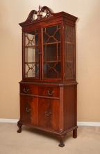 FINCH FINE FURNITURE MAHOGANY CHINA CABINET