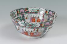 CHINESE ROSE MEDALLION CENTER BOWL