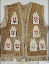 SIOUX QUILL WORK HIDE VEST