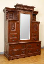 FINE VICTORIAN MURPHY BED / CABINET