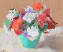 E. DORRY FLORAL STILL LIFE PAINTING