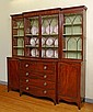GEORGIAN MAHOGANY BREAKFRONT SECRETARY DESK