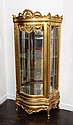 12: FRENCH STYLE CARVED GOLD GILT DISPLAY CABINET