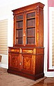 VICTORIAN BURL WALNUT BOOK CASE