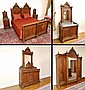 7 PIECE HIGH VICTORIAN BEDROOM SET
