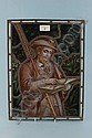 Fine Victorian lead light stained glass panel