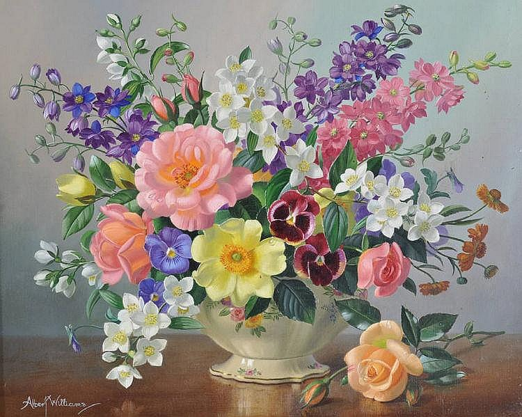Albert Williams (born 1922) oil on canvas, still