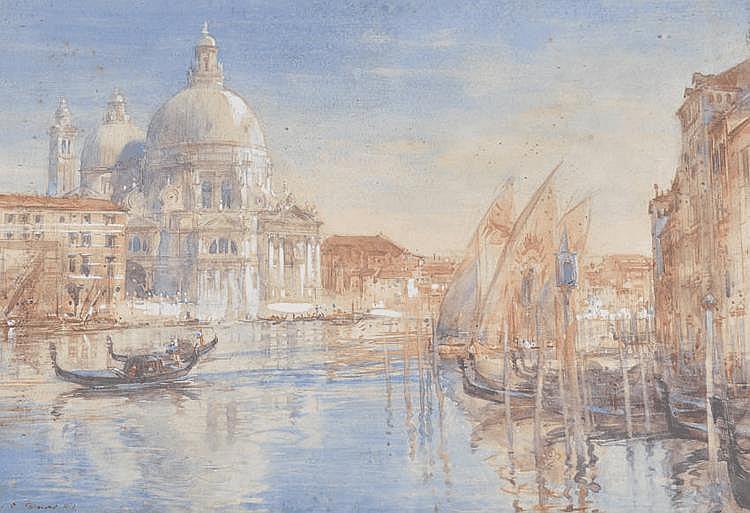 Henry Charles Brewer RI (1866-1950) watercolour,