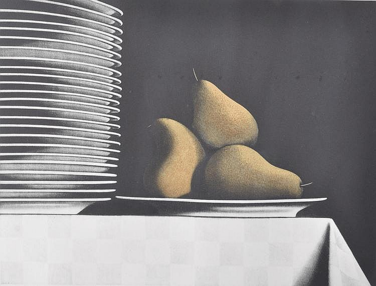 Sharon Aivaliotis (born 1951) colour mezzotint,