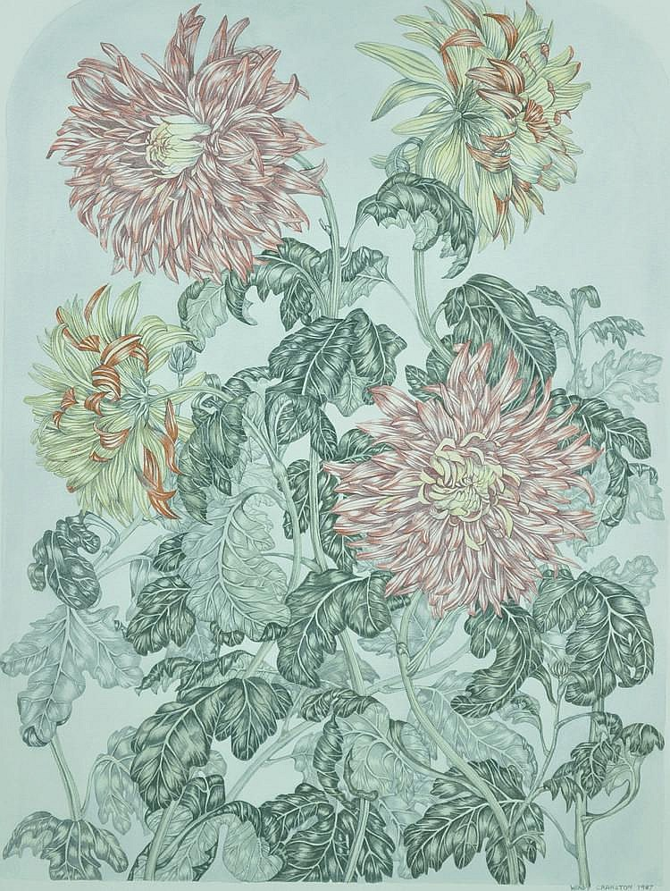 Wendy Cranston watercolour, detailed botanical