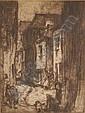 FRANK BRANGWYN (1867-1956) Etching, Back Street