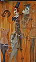 ALEX PORTNER Oil on wood panel, 4 Figures, signed,, Alex  Portner, Click for value
