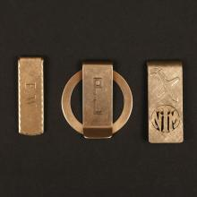 THREE 14KYG MONEY CLIPS