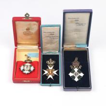 (3pc) EUROPEAN ENAMELED MEDALS