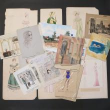 LOT OF WORKS ON PAPER