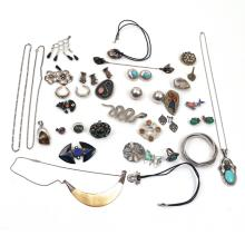 MISC. LOT OF STERLING SILVER JEWELRY