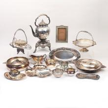MISC. LOT OF SILVER-PLATED HOLLOWARE