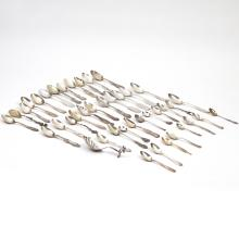(42pc) MOSTLY STERLING SOUVENIR SPOONS