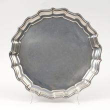 CHIPPENDALE-STYLE STERLING SILVER TRAY
