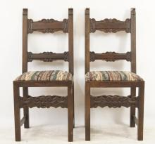 Pair of Santa Fe Spanish chairs