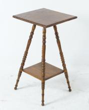 American Oak parlor table/ fern stand