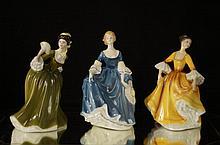 Royal Doulton porcelain lady figures - 3