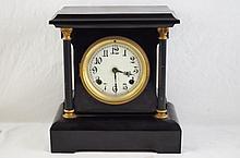 Antique New Haven Mantle clock with porcelain face