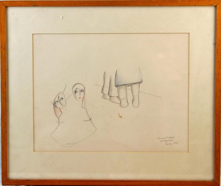 "Beatrice Wood 11""x14"" drawing 1985 Beatrice Wood Drawings"