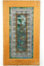 American Stained glass window ca 1900
