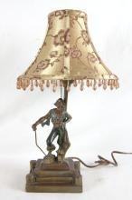 Pirate or Buccaneer lamp with silk shade