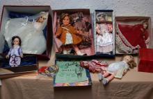 Assorted dolls - includes Blue Boy, Shirley Temple