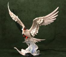 BOEHM BISQUE LIMITED EDITION BIRD, 'FORESTER TERN'