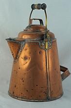 Copper cowboy coffee pot ca 1910