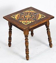 California four - tile top table