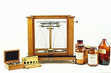 Antique Assayers Apothecary Scale with weights +