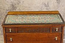 10-Tile top antique  dresser w/ 3 drawers