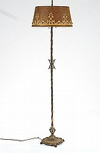 Spanish Colonial 1920's Brass & Iron floor lamp