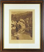 Edward Curtis photogravure - Quiet Water