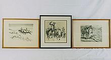 R.H. Palenske Western etchings - 3pcs