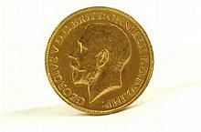 English George V 1928 Sovereign coin