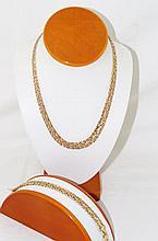Outstanding Milor Italy 14kt Necklace & bracelet
