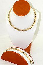 14kt Italian  585 gold necklace & bracelet
