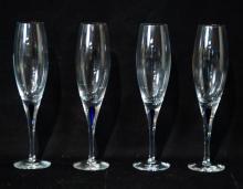 Orrefors stem champagne glasses - 4 pcs