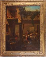 19th c. Spanish oil on canvas painting