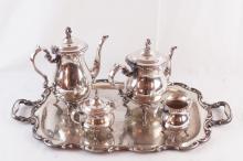 Gorham Silver plate 5pc tea set