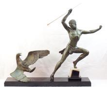 Jean de Roncourt (19/20thc) Art Deco bronze