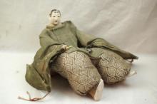 Unusual Meiji period Japanese handmade female doll