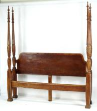 Carved Mahogany king or queen size 4 Poster bed