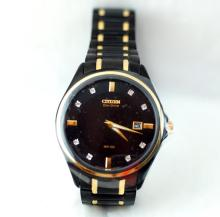 Men's Citizen Eco-Drive watch with crystals