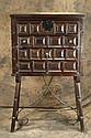 Spanish Vargueno with wrought iron chest